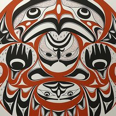 Our Beginnings (1997) by Art Thompson, Nuu-chah-nulth (Ditidaht) artist (AT1997-01)