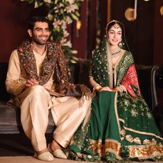 Pakistani Bride Wore Sabyasachi Green Matka Lehenga And Looked Every Bit Of Royal, Pics Inside! Pakistani Wedding Outfits, Bridal Outfits, Pakistani Dresses, Shadi Dresses, Pakistani Clothing, Engagement Outfits, Bridal Shoes, Indian Dresses, Bridal Jewelry
