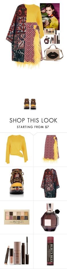 """""""Streetstyle"""" by eliza-redkina ❤ liked on Polyvore featuring Topshop, Prada, Chloé, Maybelline, Viktor & Rolf, Laura Mercier, Burt's Bees, StreetStyle, outfit and like"""