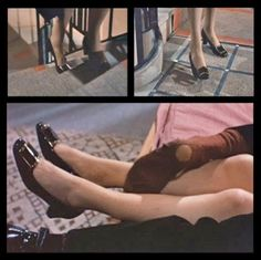 1967 | Still frames from Belle De Jour | Directed by Luis Buñuel  Catherine Deneuve's feet and a nice sock | Shoes by Roger Vivier