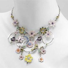 coomi jewelry neiman marcus | PILGRIM Danish Design • Pastel Floral Swarovski Crystal & Enamel ...