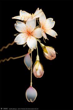 Headdress, Headpiece, Japanese Hairstyle, Japan Photo, Hair Sticks, Tokyo Japan, Cherry Blossom, Auction, Jewelry Making