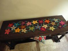 """Caminho de mesa de crochê """"Floral"""""""