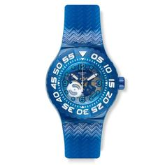 Swatch La Nave Va Seethrough Dial Blue Plastic Strap Watch SUUS100 *** Check out the image by visiting the link. (This is an Amazon affiliate link)