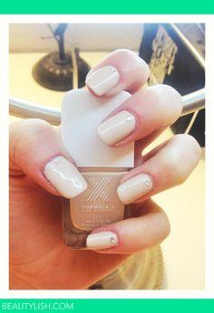 Nude nails with rhinestones :) | Abbey H.'s (abbeyhickmann) Photo | Beautylish