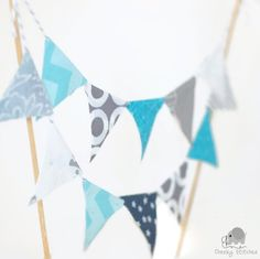 Just finished this bunting cake topper and I'm very happy how it turned out. These are now available at Cheeky Stitches in any colour combination desired. Add a matching name banner and it's the perfect birthday decoration