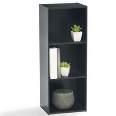 Image for 3 Tier Black Bookshelf from Kmart Cupboard Storage, Black Room Decor, Furniture, Furniture Computer Desk, Classroom Furniture, Home Office Furniture, Black Bookshelf, Living Room Bookcase, Home Furnishings