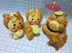 cute totoro bread