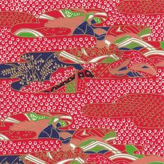 Traditional Japanese washi paper with beautiful pattern. Can be used as wrapping paper or origami works. Japanese Patterns, Japanese Design, Oriental Design, Japanese Paper, Japan Art, Traditional Japanese, Origami Paper, Beautiful Patterns, Washi