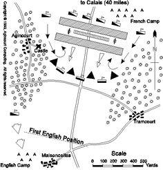 Map of Agincourt Battlefield