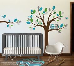 Children Vinyl Wall Decals Nursery Tree Wall by WonderwallDecal, $99.00