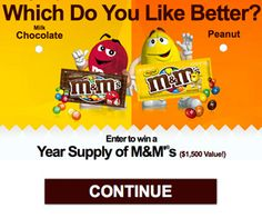 Sweepin N  More: M&M Sweepstakes