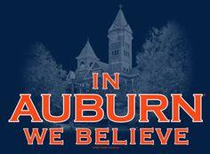 Auburn Tigers T-shirts and Apparel by Tiger Rags Auburn Football, College Football Teams, Auburn Tigers, Football Parties, Battle Cry, Go Big Blue, Southern Sayings, Tiger T Shirt, Auburn University