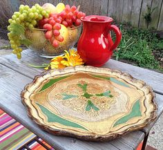 SOLD to Lisa-Green Gilt Carved Wooden Vintage Italian Florentine Tray