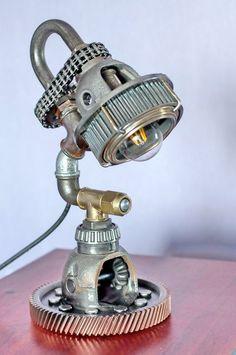 Steampunk Lamp  Steampunk art  Table Lamp  от SteampunkLoftCraft