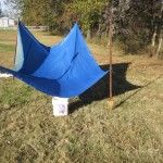 Collect more rainwater using a tarp