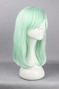 Seafoam Green Medium Length Wig by FairyTailWings on Etsy, $35.00