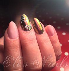 Mirror nails, Awesome nails, Oval nails
