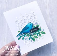 Stampin' Up! Die Cut Textured Backgrounds Using Petal Palette