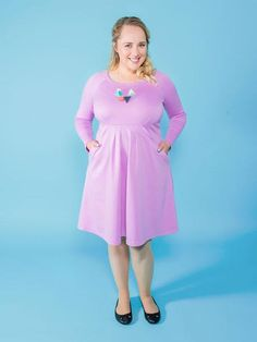 Zadie sewing pattern by Tilly and the Buttons - the perfect throw-it-over-your-head dress!