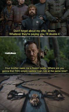 Tyrion Lannister and Bronn, game of thrones season 7 funny humour meme, Peter Dinklage