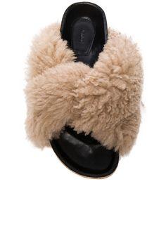 Image 4 of Chloe Kerenn Shearling Fur Sandals in Fawn