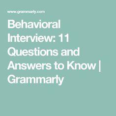 behavioral question