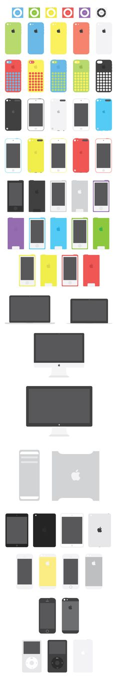 Apple Flat Devices   GraphicBurger