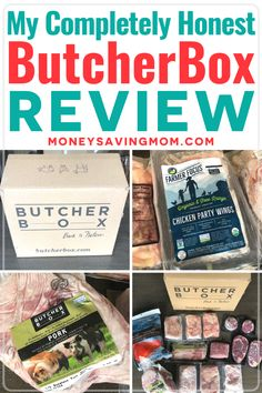 Looking for a way to get high quality meat shipped to your house directly each month?  Well then read this full review of ButcherBox.  There are no hormones or antibiotics used in this meat!  May be a great time to sign up during the quarantine!  #butcherbox #meatdeliveryservice #fooddelivery #meatdelivery Family Meal Planning, Budget Meal Planning, Family Meals, Save Money On Groceries, Ways To Save Money, Butcher Box Reviews, Meat Delivery Service, Party Wings, Meat Box