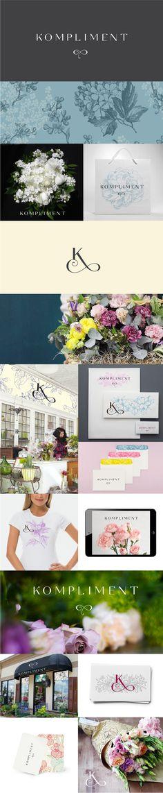 Branding concept for flower shop #logo #identity #smart #elegant #flower #shop…