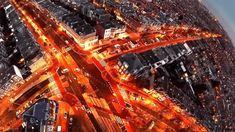 'Little planet'; dronefoto van het Valkenbosplein van dronewatcher Wiebe de Jager - KonkreetNieuws The Hague, Still Life, Planets