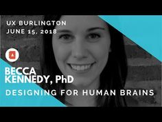 Designing for Human Brains This talk will go over some key psychological principles and how they relate to UX design — like visual perception, human memory, . Ux User Experience, Human Memory, Perception, Becca, Psychology, Brain, Memories, Youtube, Design