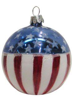 Christmas Ornament - American flag - Christmas - kerstmis - holidays