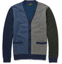Beams PlusColour-Block Wool-Blend Cardigan