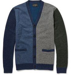 Beams Plus Colour-Block Wool-Blend Cardigan   MR PORTER