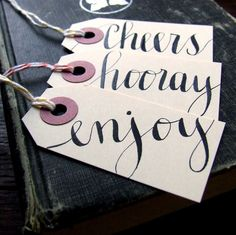 7 everyday gift tags small hand lettered by KisforCalligraphy