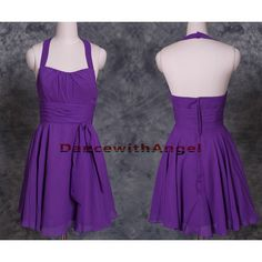 Purple chiffon ruffle short party dress,prom dress,short prom... (£66) ❤ liked on Polyvore featuring dresses, bridesmaid dress, evening dress, cocktail prom dress, ruffle prom dress, short cocktail dresses, purple cocktail dresses and short prom dresses