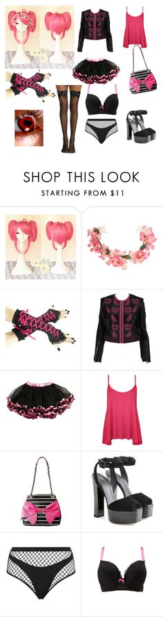 """""""victoria"""" by daddysbabydoll1998 ❤ liked on Polyvore featuring Miss Selfridge, WearAll, Betsey Johnson, Giuseppe Zanotti, Agent Provocateur and Charlotte Russe"""