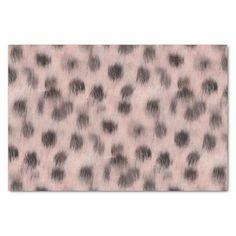 Pink Cheetah faux fur tissue paper