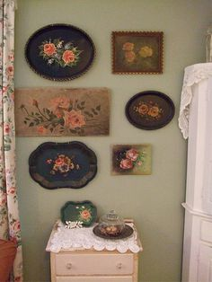 Tole Trays and Rose Paintings | Flickr - Photo Sharing!
