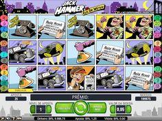 O Jack Hammer é uma máquina com 3 linhas e 25 linhas de aposta que usa 15 cilindros independentes.