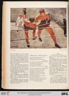 Jugend: Münchner illustrierte Wochenschrift für Kunst und Leben — 35.1930 / Willy Jaeckel: Boxkampf Erich Kästner: Boxkämpfer - bildlich gesprochen