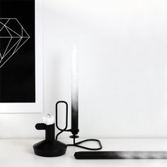 Hay Lup Black Candleholder                         – Huset | Your house for modern Scandinavian living