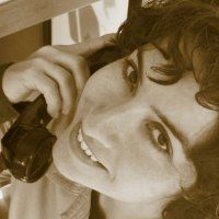 Jessica Santascoy's LInkedIn profile pic is a good one.