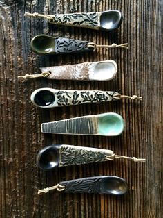 Ceramic hand sculpted spice spoons by Persimmon Street will be at Mosaic Central Farmers Market Sunday 24th in VA !