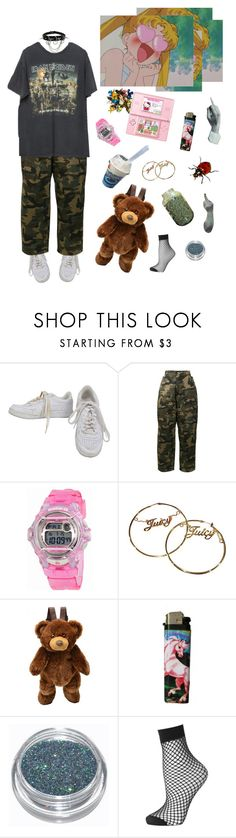 """if i was a rich girl"" by hothotdad ❤ liked on Polyvore featuring NIKE, Hood by Air, Brandy Melville, Casio, Hello Kitty, Juicy Couture and Topshop"