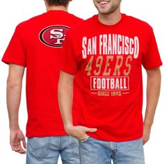 95bfa751a NFL San Francisco 49ers Coin Toss 2-Hit T-Shirt - Cardinal Football Fashion