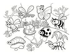 Spring Coloring Pages: Spring coloring sheets can actually help your kid learn more about the spring season. Here are top 25 spring coloring pages free Insect Coloring Pages, Garden Coloring Pages, Summer Coloring Pages, Detailed Coloring Pages, Coloring Sheets For Kids, Animal Coloring Pages, Coloring Books, Free Printable Coloring Pages, Free Coloring Pages