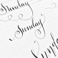 """33 Likes, 11 Comments - Nanette (@nanette21) on Instagram: """"Happy Sunday! #flourishes #penandink #practicedaily #nib #wanttodomoreofthis #moderncalligraphy…"""""""