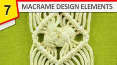Free Macrame Tutorial: Rhomb with Josephine knot. This Beautiful design can be used in many ways: wall hangings, plant holders, jewelry making, belts, ect.